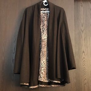Luii Anthro Open Front Cardigan Duster Oversized